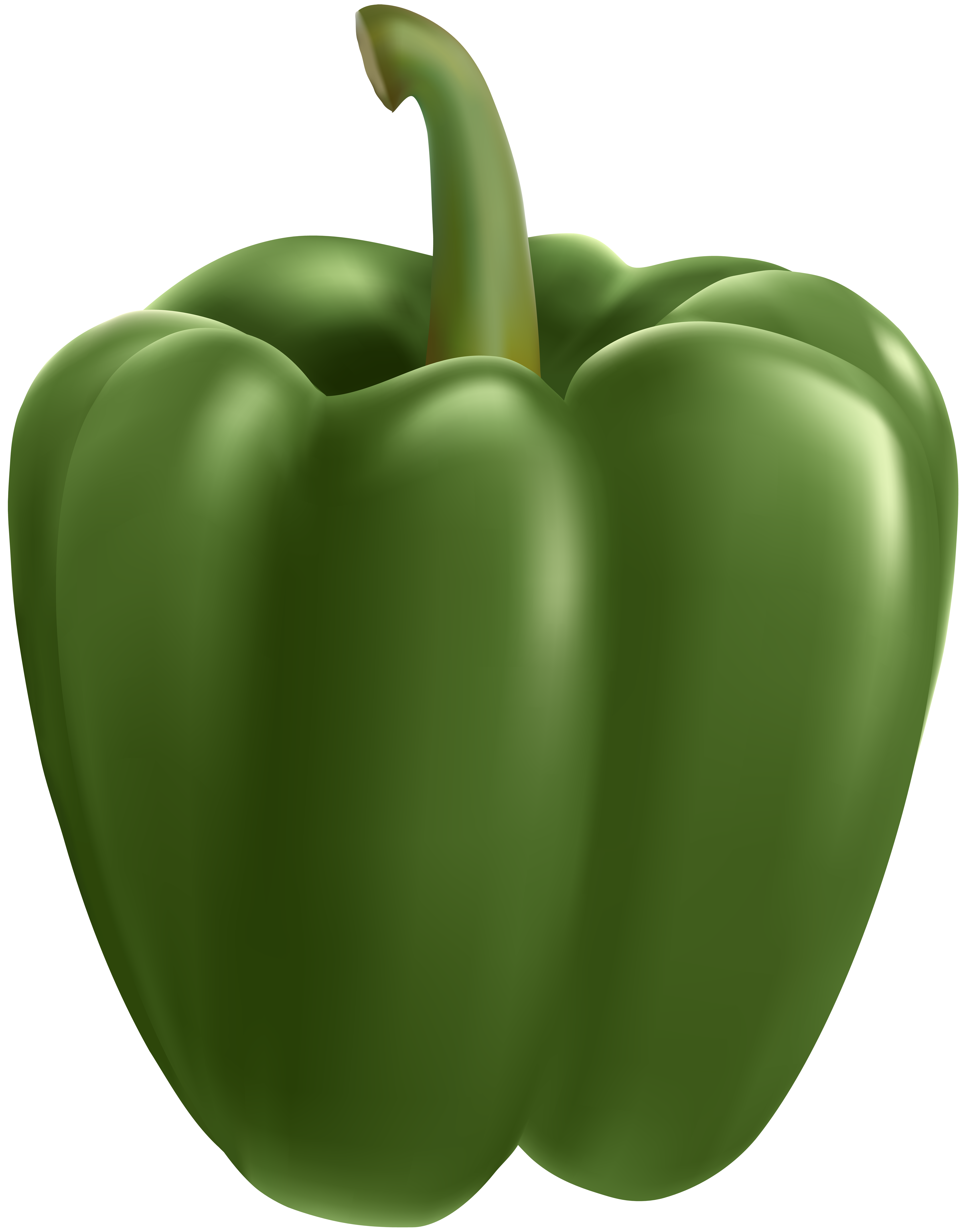 Green bell transparent clip. Pepper clipart happy