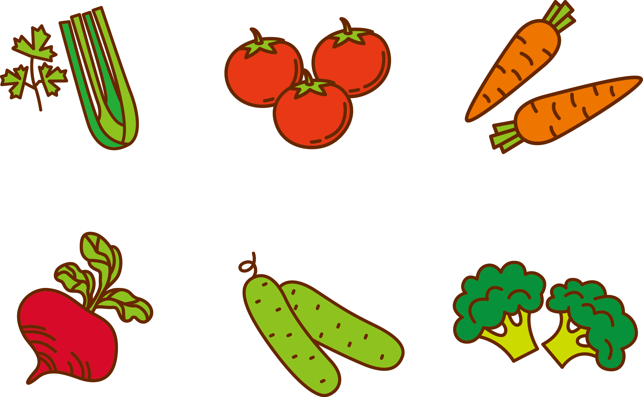 Fruits and for to. Vegetables clipart printable