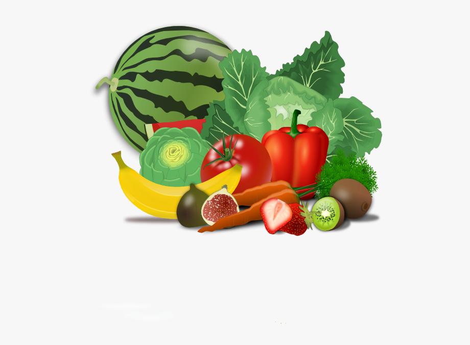 Healty food clip art. Nutrition clipart group fruit