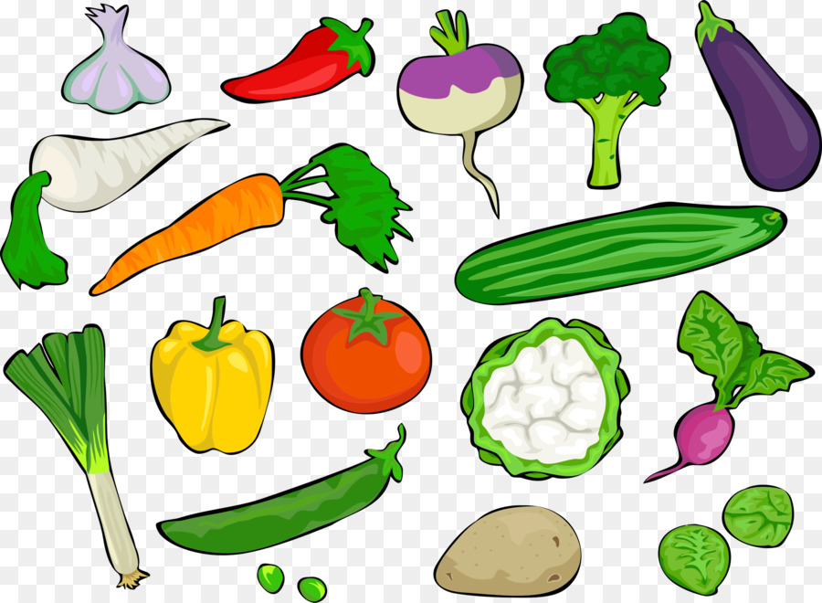 Vegetables clipart veg. Cartoon vegetable fruit food
