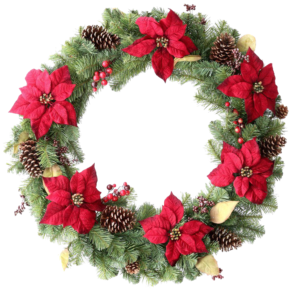 Christmas wreath vector png. Green peoplepng com