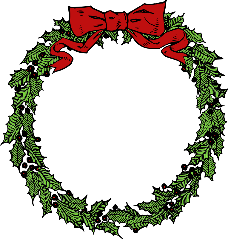Clipart vegetables wreath. Christmas wreaths free alternative