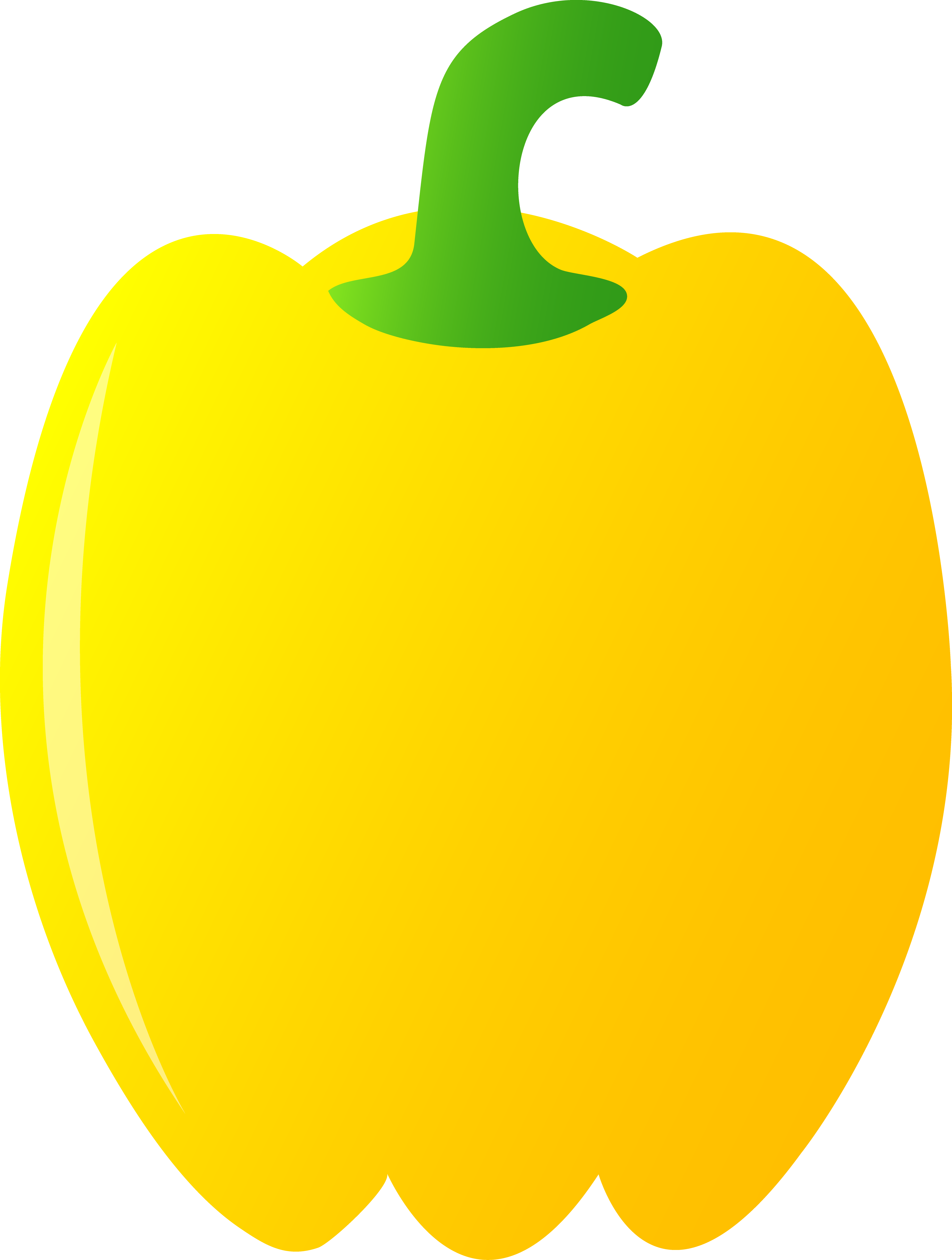 Pepper clipart drawing. Yellow bell free clip