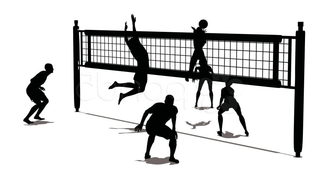 Volleyball clipart. Unique court drawing