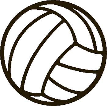 Volleyball clipart. Free black and white