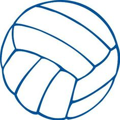 Blue clipart volleyball. Free printable clip art