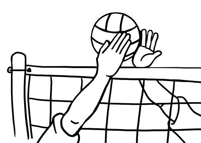 Awesome and free court. Clipart volleyball