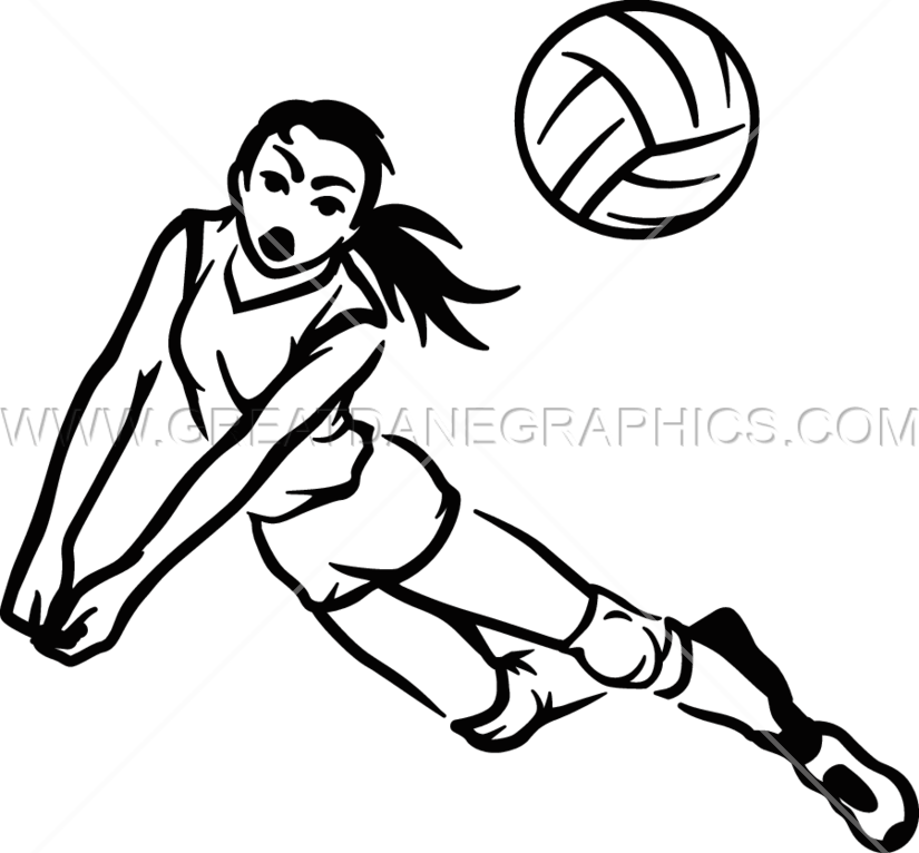 Drawing at getdrawings com. Color clipart volleyball player