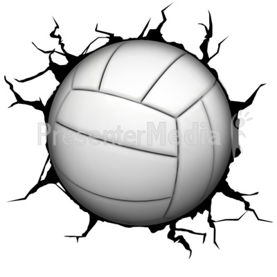 Crack wall presentation great. Volleyball clipart animated