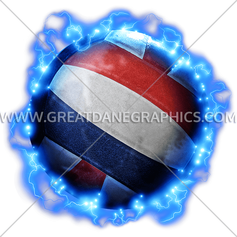 Lightning production ready artwork. Colors clipart volleyball