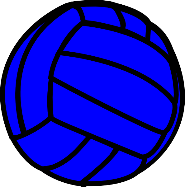 clipart volleyball blue