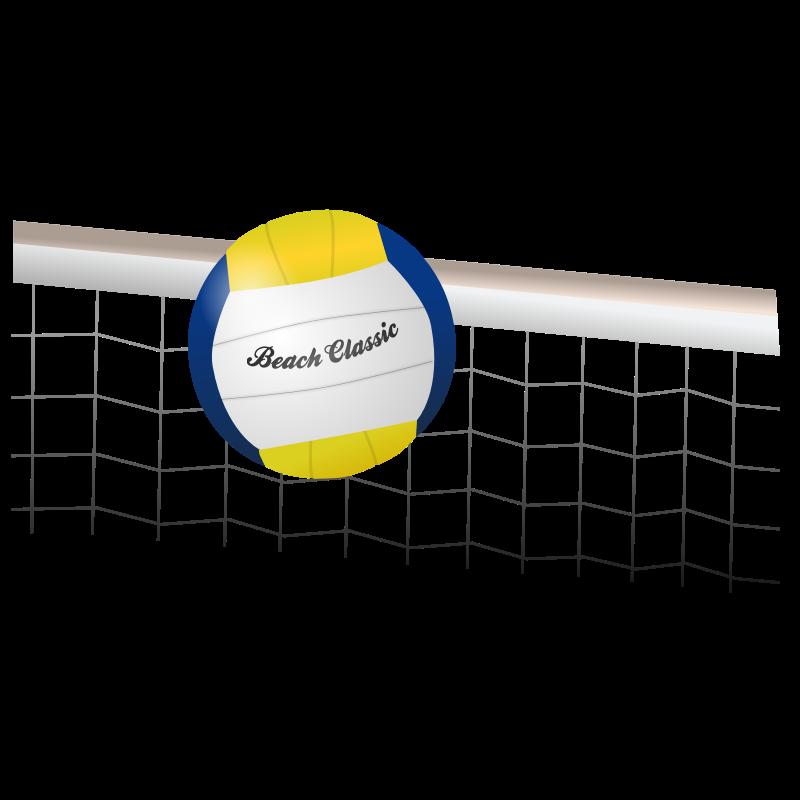 Free net hanslodge clip. Volleyball clipart orange
