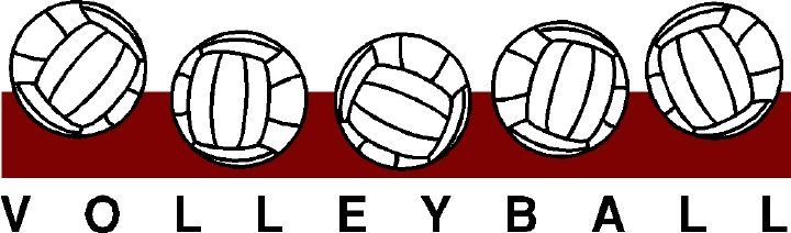 Clip art sutherland school. Clipart volleyball border
