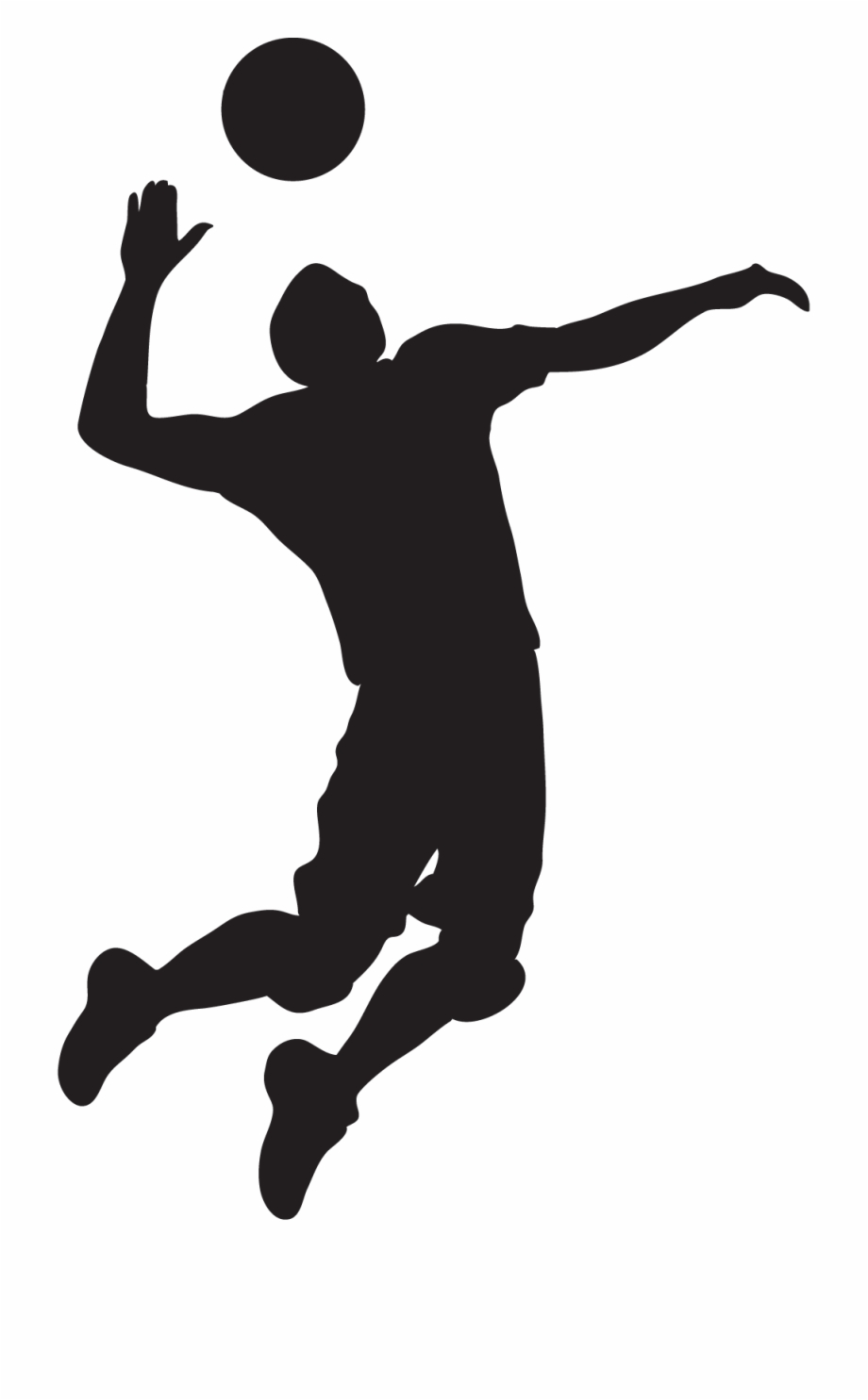 Spike png black and. Volleyball clipart boys volleyball