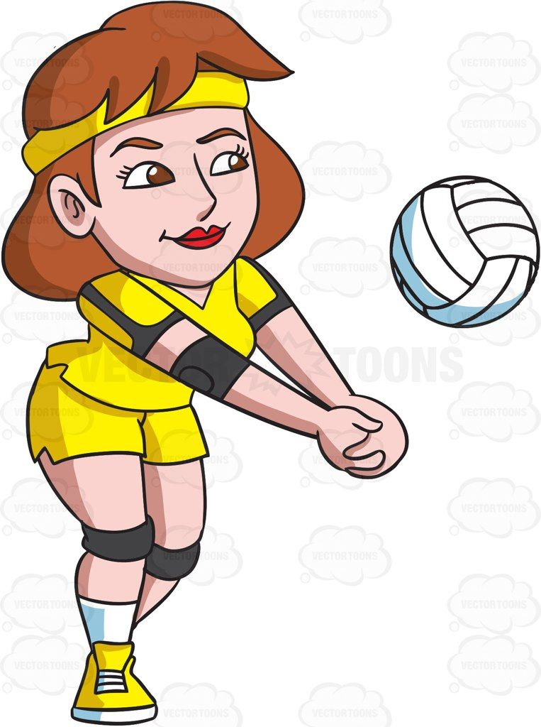 Volleyball clipart female volleyball player. A enjoying game cartoon