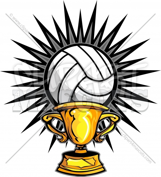 Clipart volleyball champions. Champion logo trophy vector
