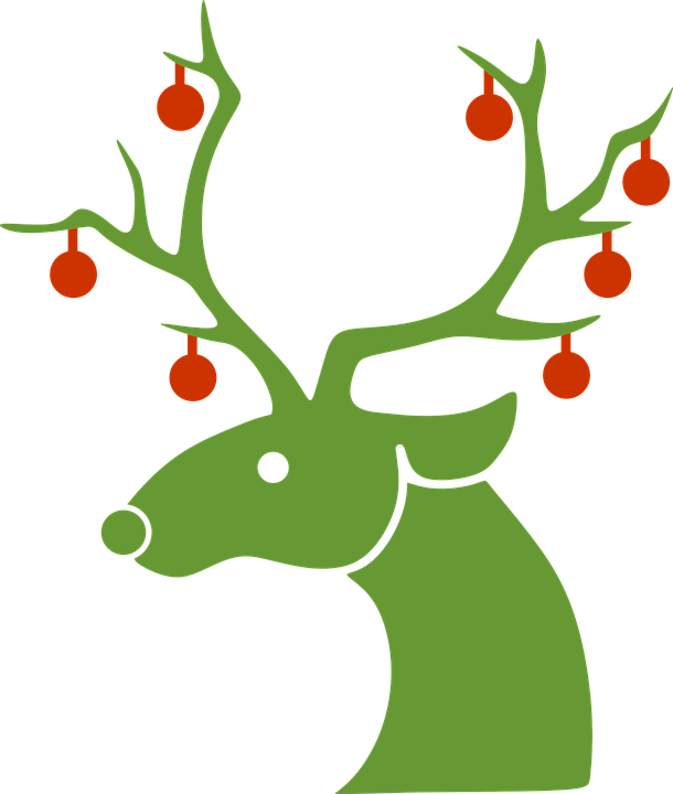 Collection of deer cliparts. Clipart volleyball christmas