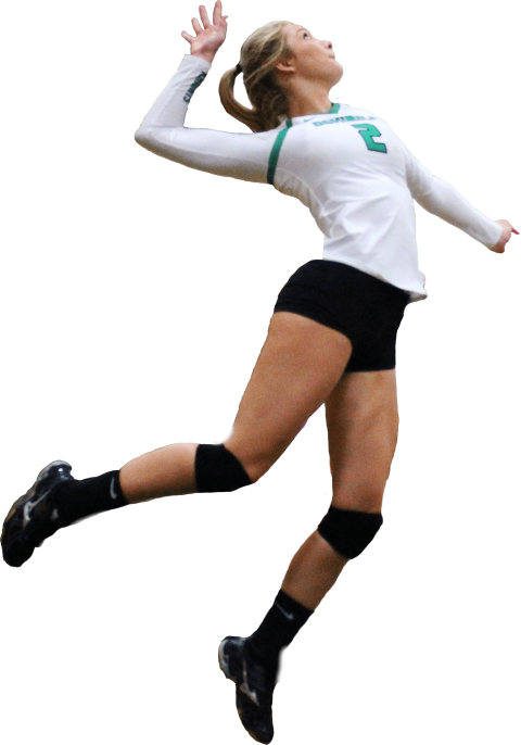 Color clipart volleyball player. Png free images toppng