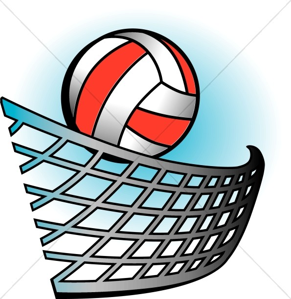 In color youth program. Clipart volleyball colorful