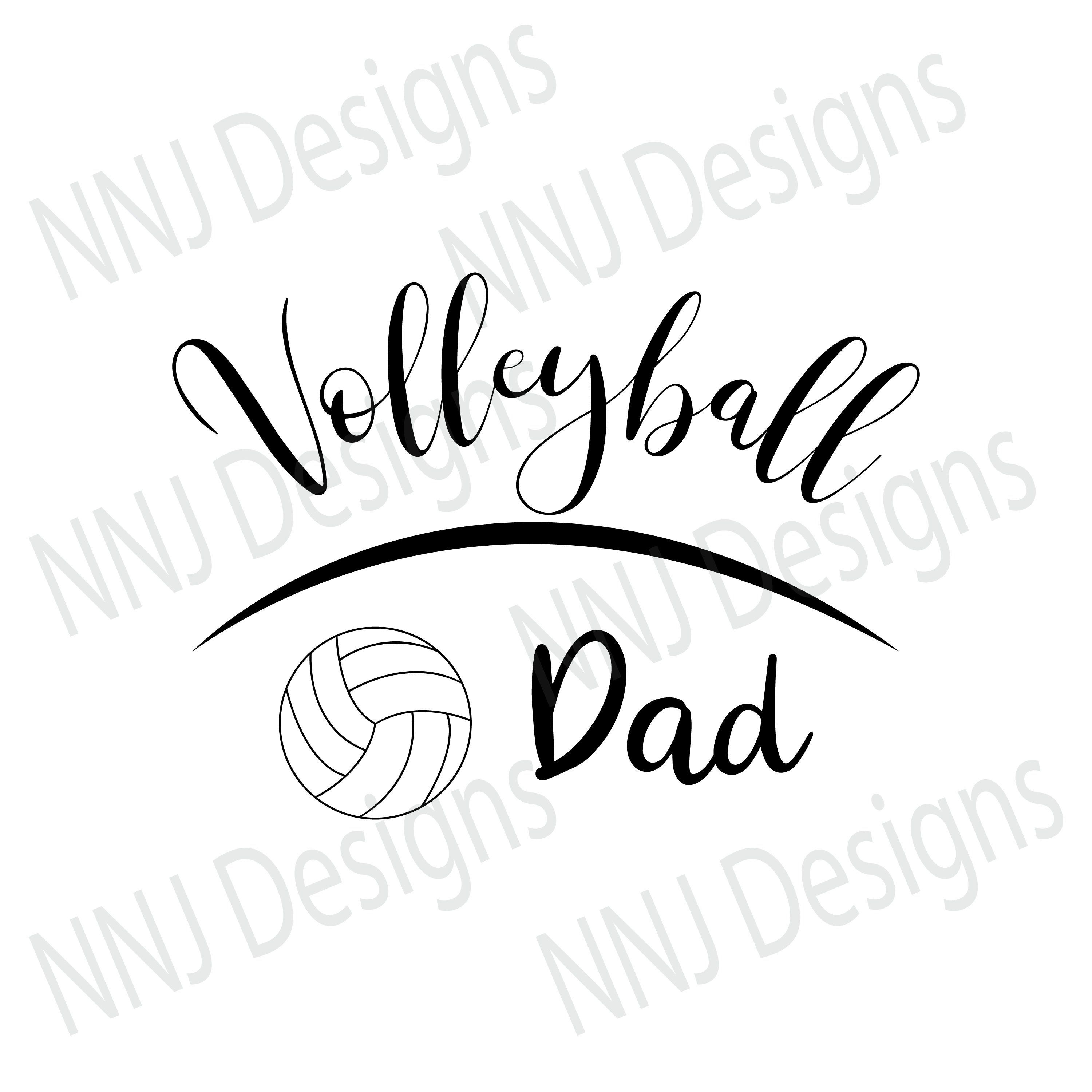 Svg father papa sports. Volleyball clipart dad