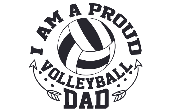 Volleyball clipart dad. I am a proud