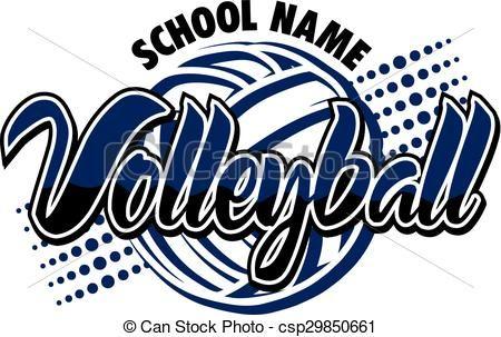 Volleyball clipart design. Vector stock illustration royalty