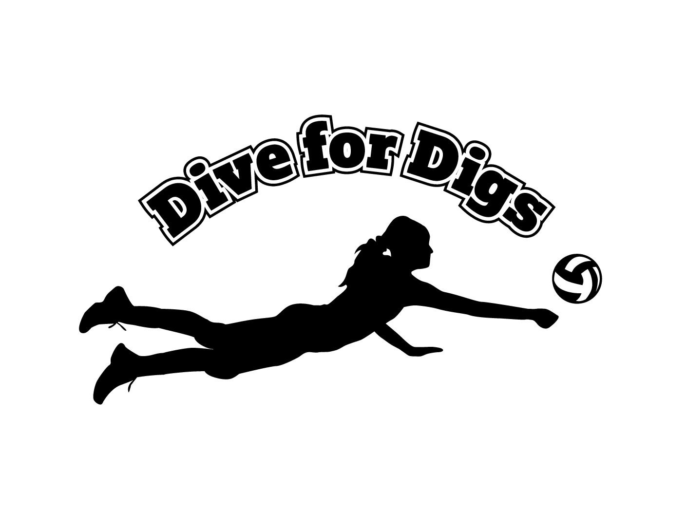 Dive for digs driend. Clipart volleyball diving