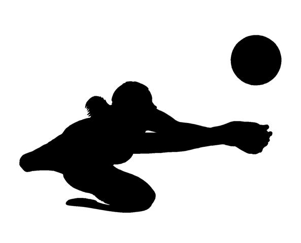 X free clip art. Clipart volleyball diving
