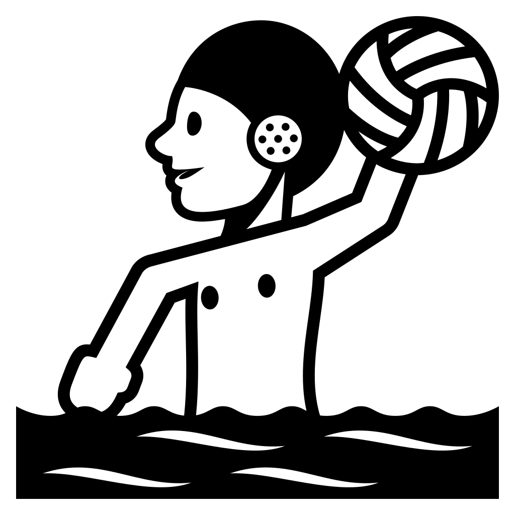 Emoji clipart volleyball. File emojione bw f