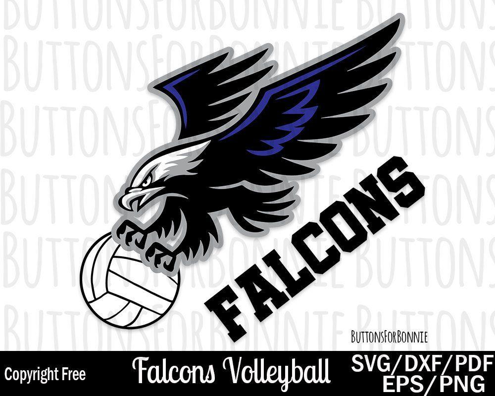 Falcons svg mom cut. Clipart volleyball falcon