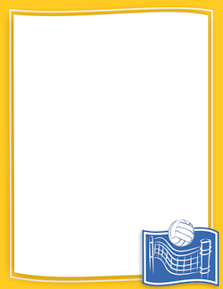 Volleyball clipart frame. Border borders page
