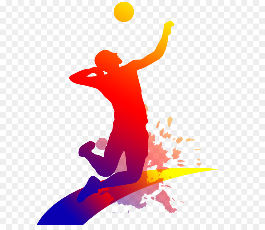 Clipart volleyball gambar. Illustration