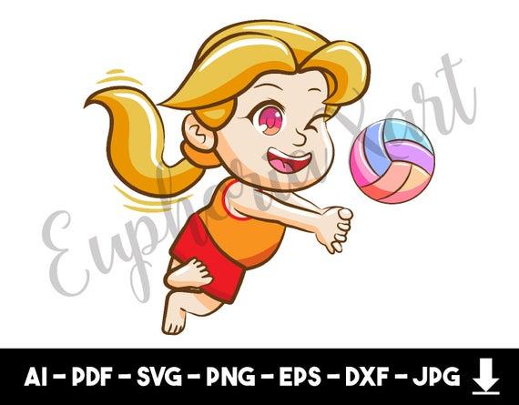 Volleyball clipart gambar. Svg cricut