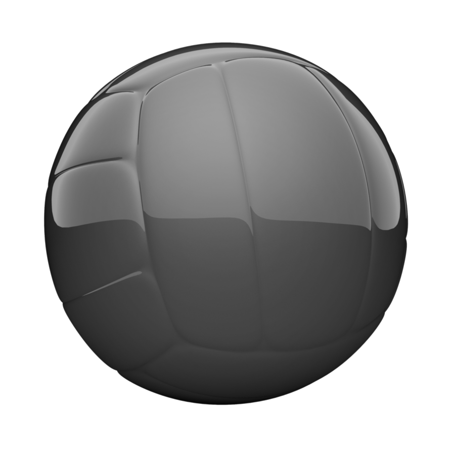 Glass black ball by. Volleyball clipart grey