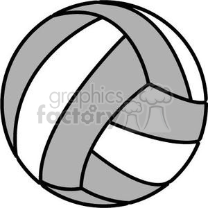 Volleyball clipart grey. And white royalty free