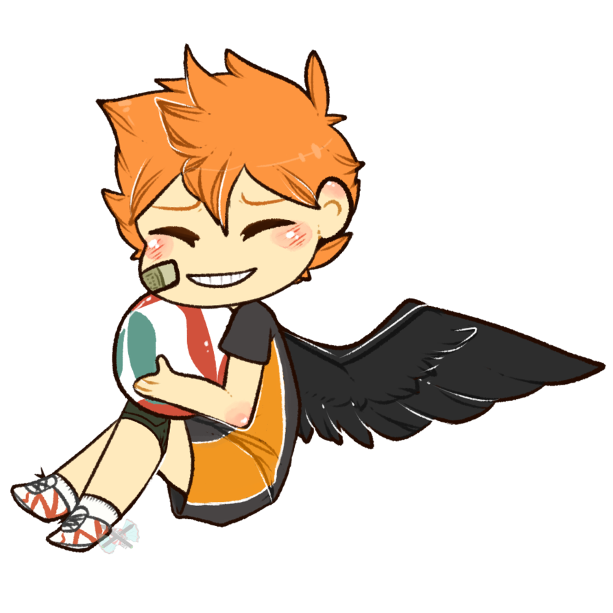 Little crow by sugarlessart. Clipart volleyball haikyuu