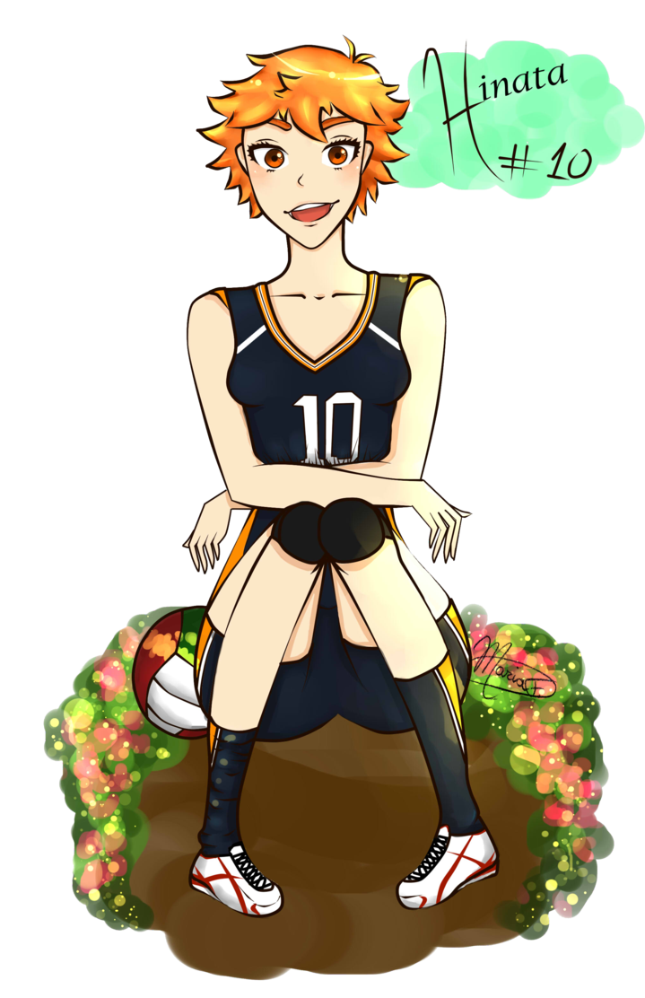 Clipart volleyball haikyuu. Hinata genderbend by mellowchellow