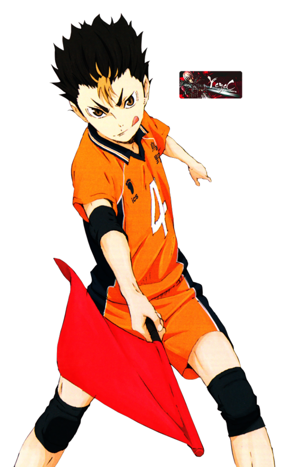 Yuu nishinoya render by. Clipart volleyball haikyuu