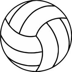 Free printable clip art. Volleyball clipart simple