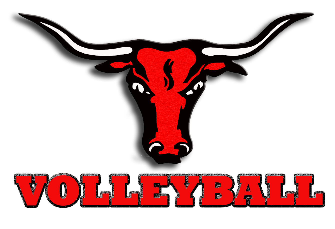 Volleyball marshall isd. Longhorn clipart head