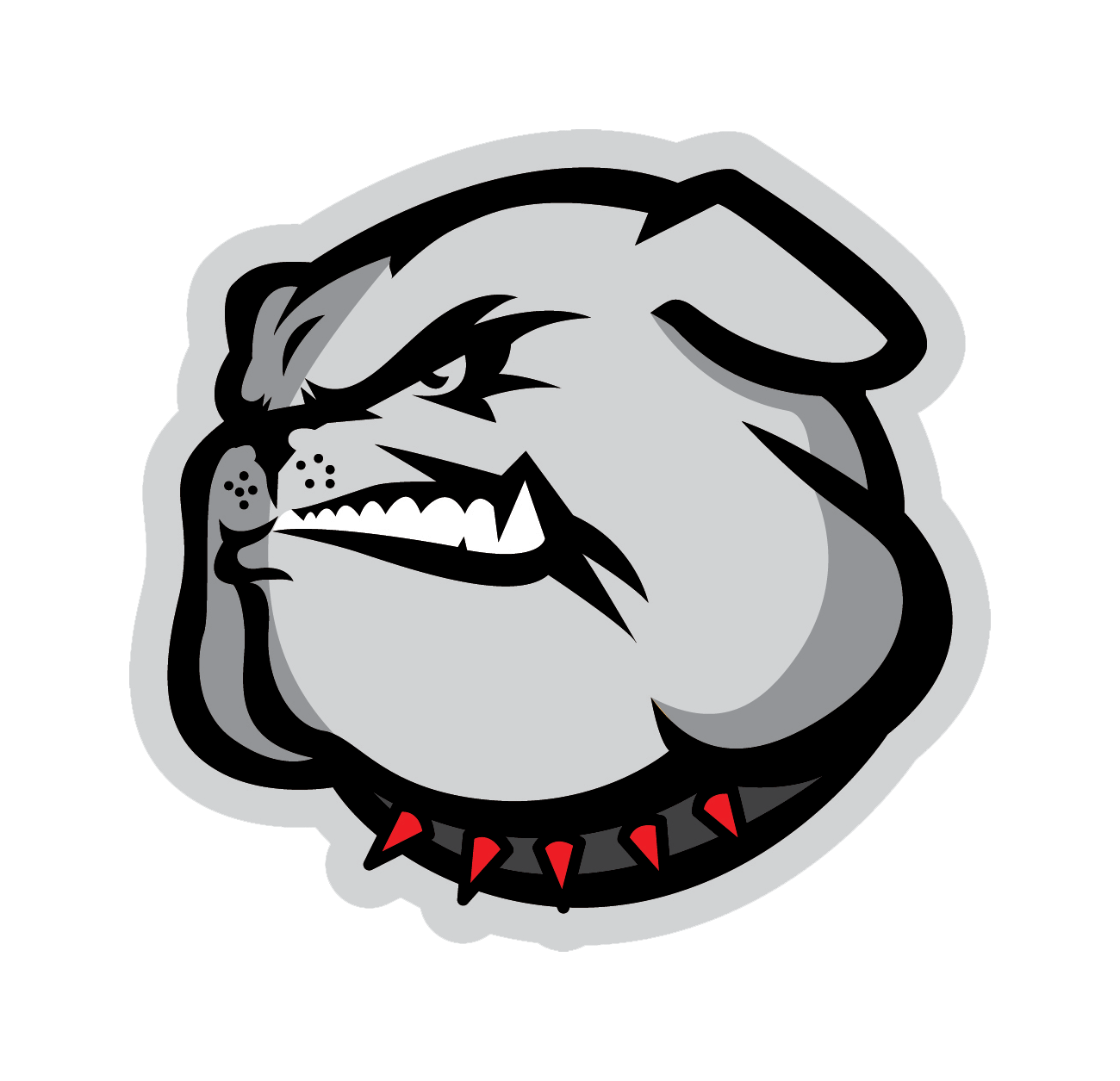 Middle college team home. Clipart volleyball lady bulldog