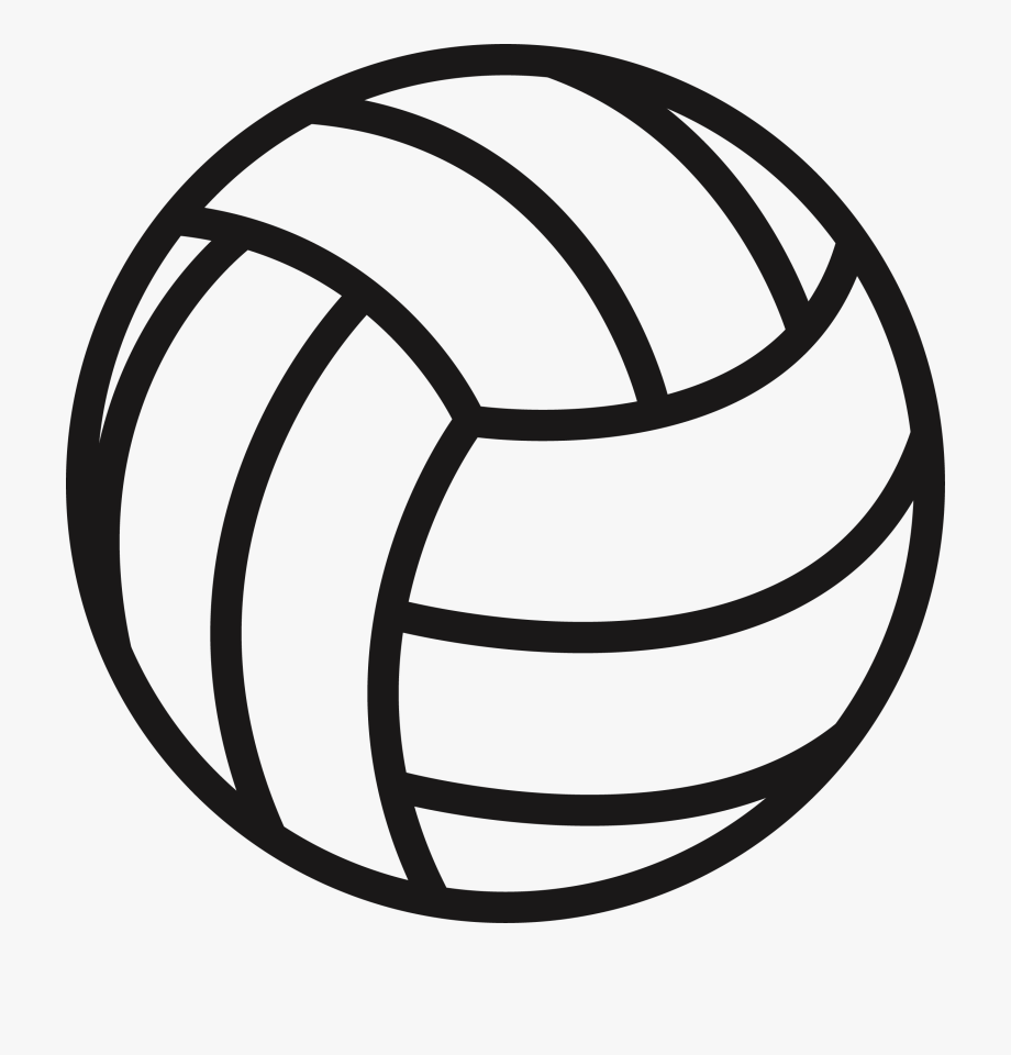 Clipart volleyball line. Clip art maker s
