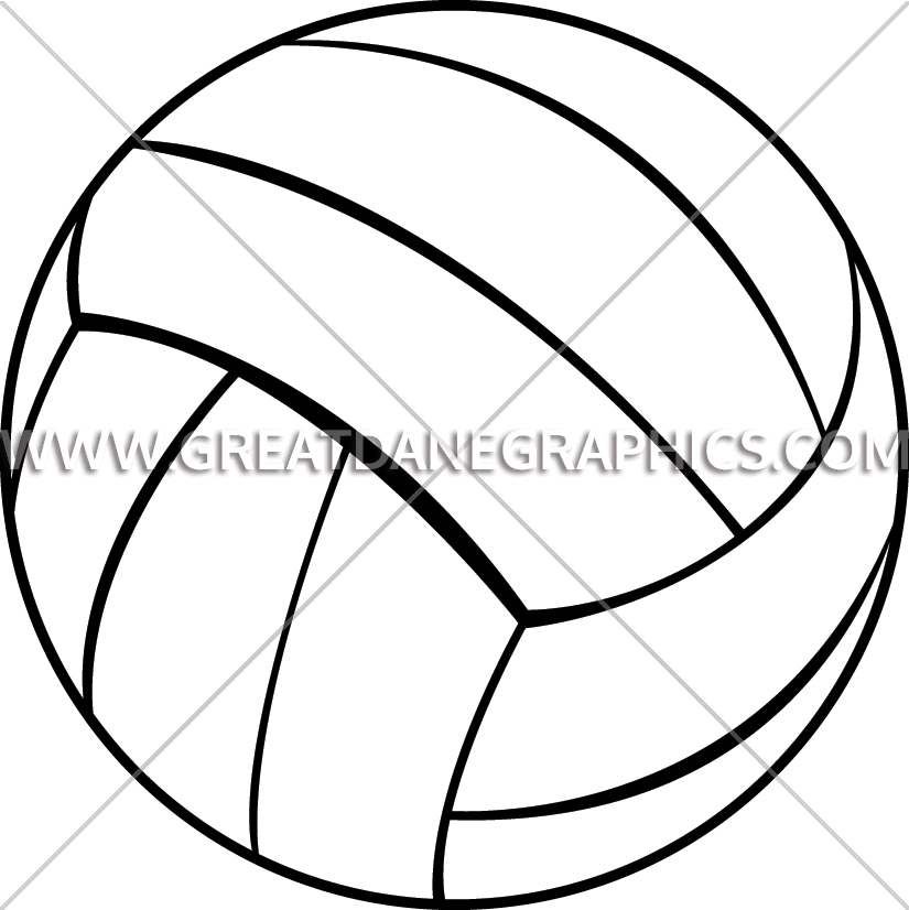 Production ready artwork for. Clipart volleyball line