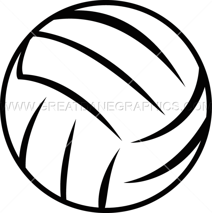 Clipart volleyball line. Production ready artwork for