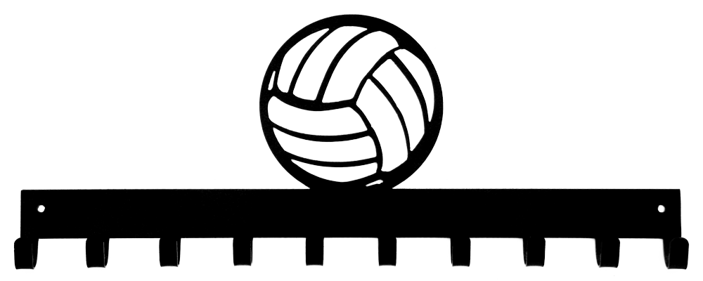 Medal display sporthooks black. Clipart volleyball line