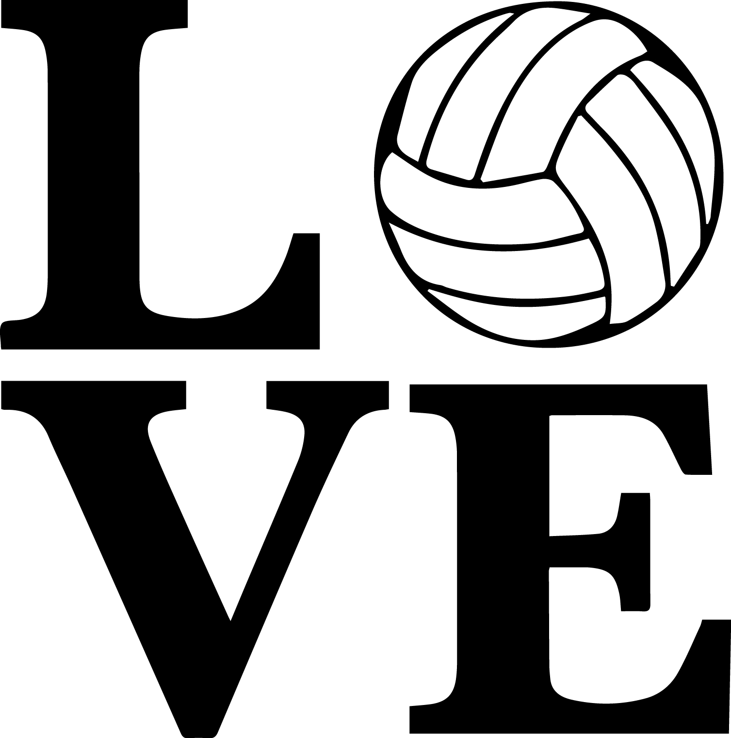 Free cliparts download clip. Clipart volleyball love