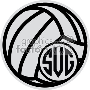 Clipart volleyball monogram. Svg cut file royalty