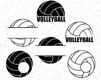 Etsy . Volleyball clipart monogram