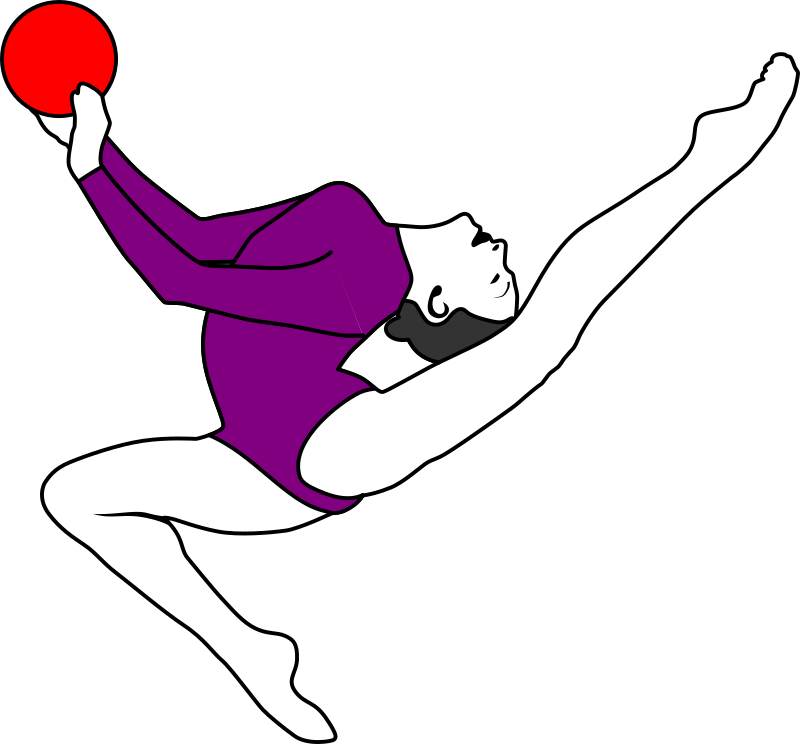 Clipart volleyball move. Rhythmic gymnastics with ball