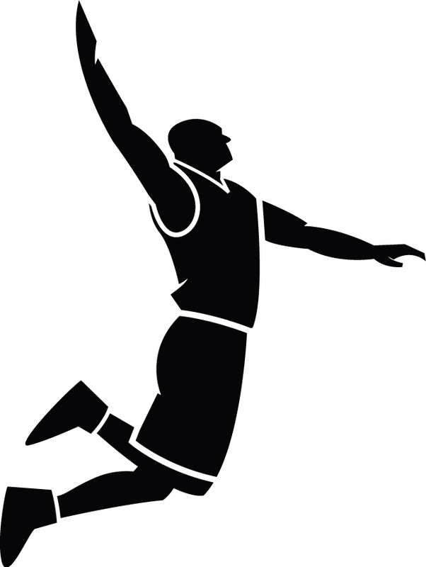 Free digital images vintage. Clipart volleyball move
